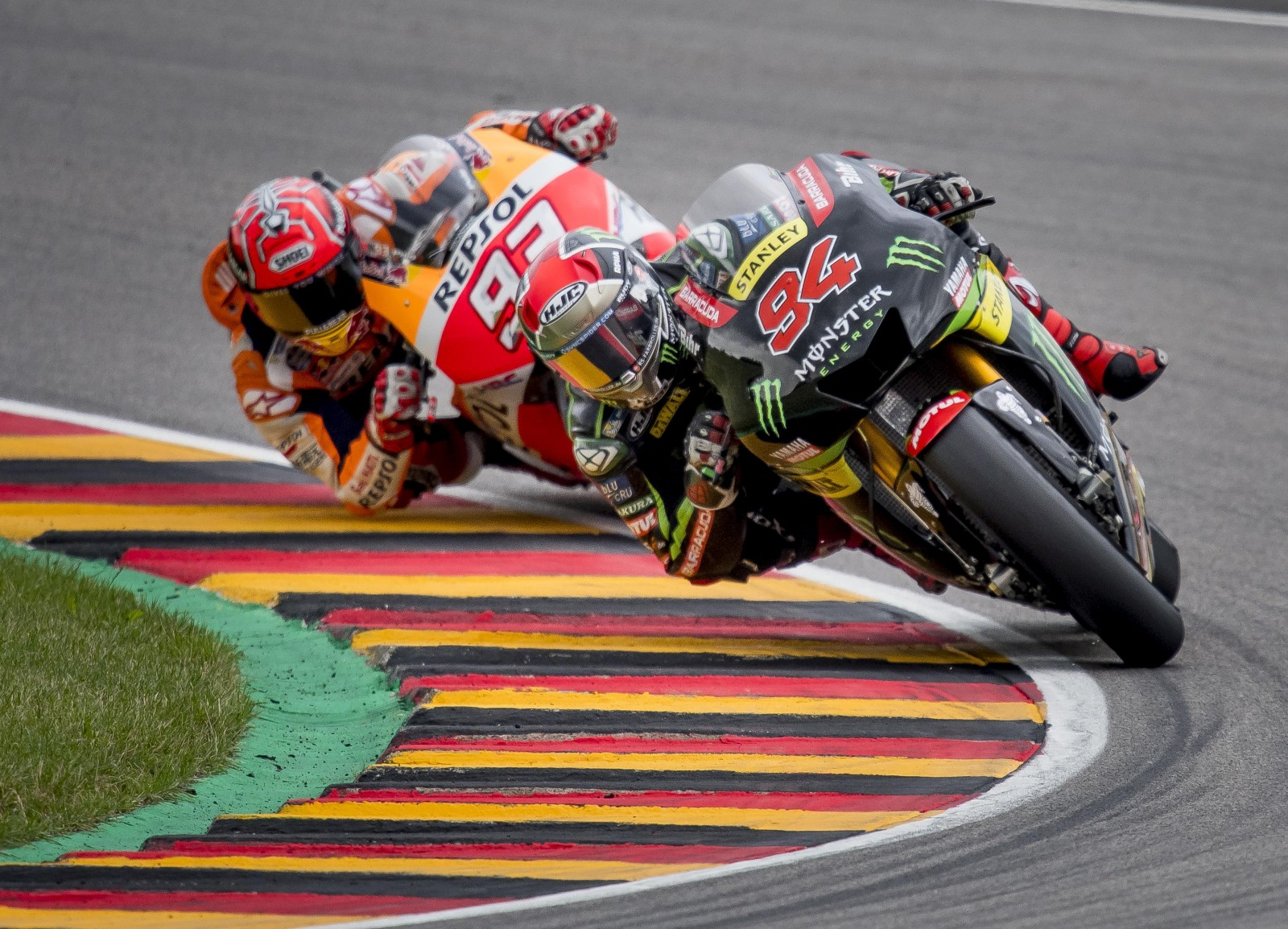 Marquez on pole in Germany for eighth year in a row