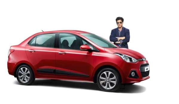 Shahrukh-Khan-and-the-Hyundai-Xcent-600x350