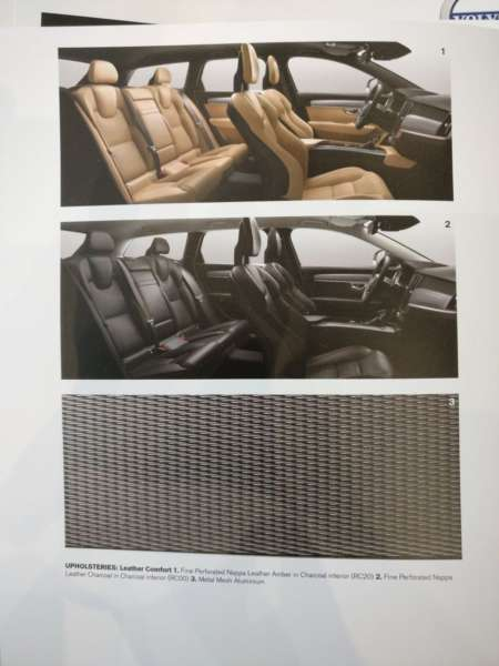 Volvo V90 Cross Country India launch interior trim options