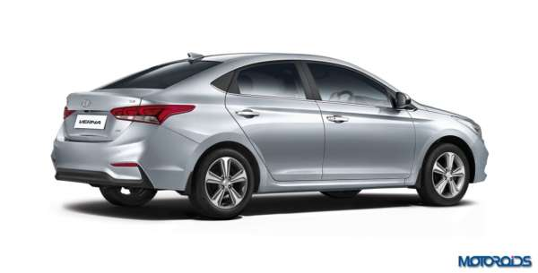 2017 Hyundai Verna facelift rear profile