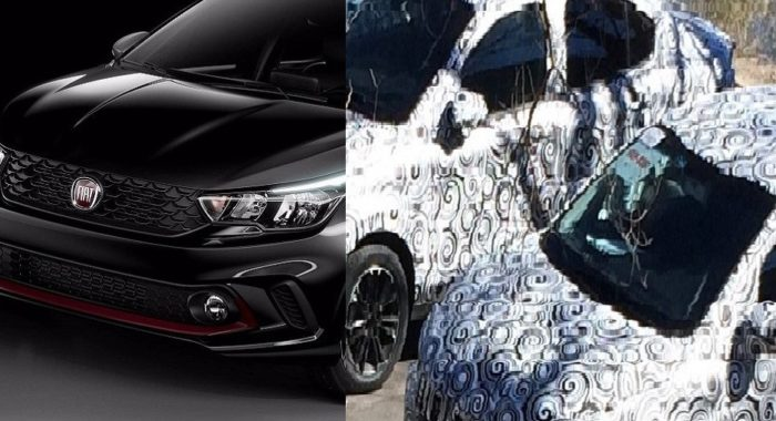 Hidden under all that camouflage could be a replacement for the Fiat Linea