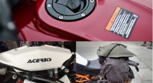 These auxiliary fuel tanks are just what your motorcycle needs for that trip to the Himalayas