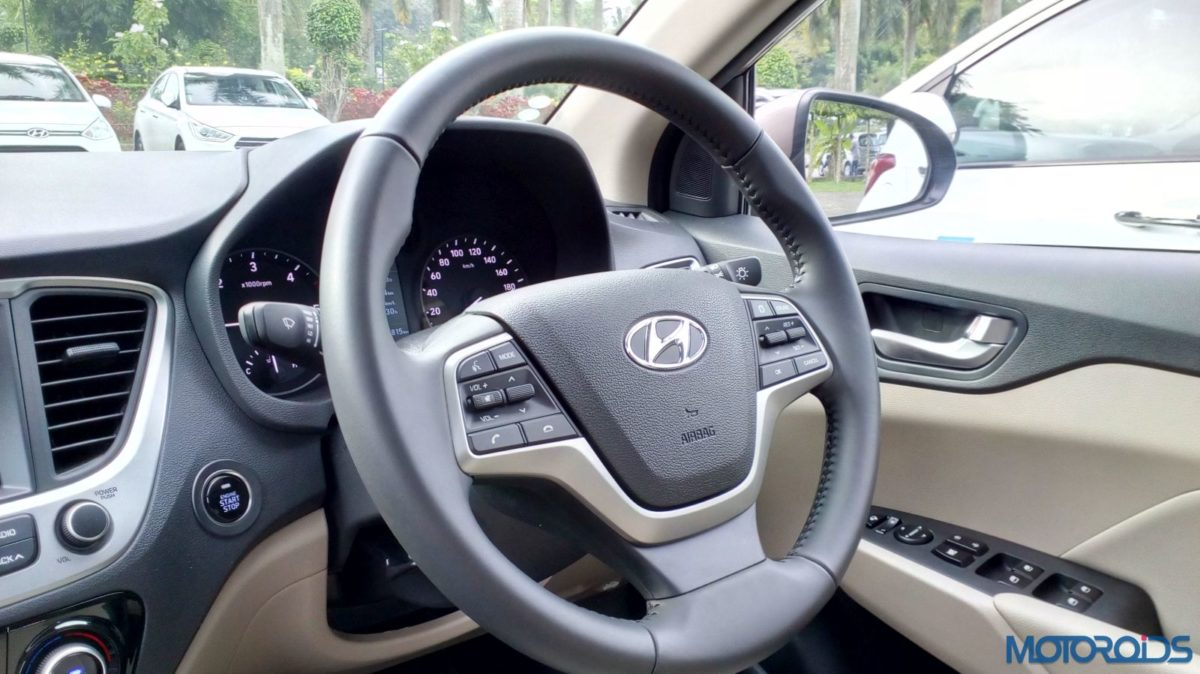 New 2017 Next gen Hyundai Verna steering wheel(36)