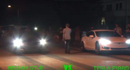 Tesla vs GT-R