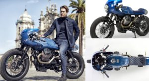 This Dashing Gannet Design Vanguard V7 Custom Honors Moto Guzzi V7's 50 years