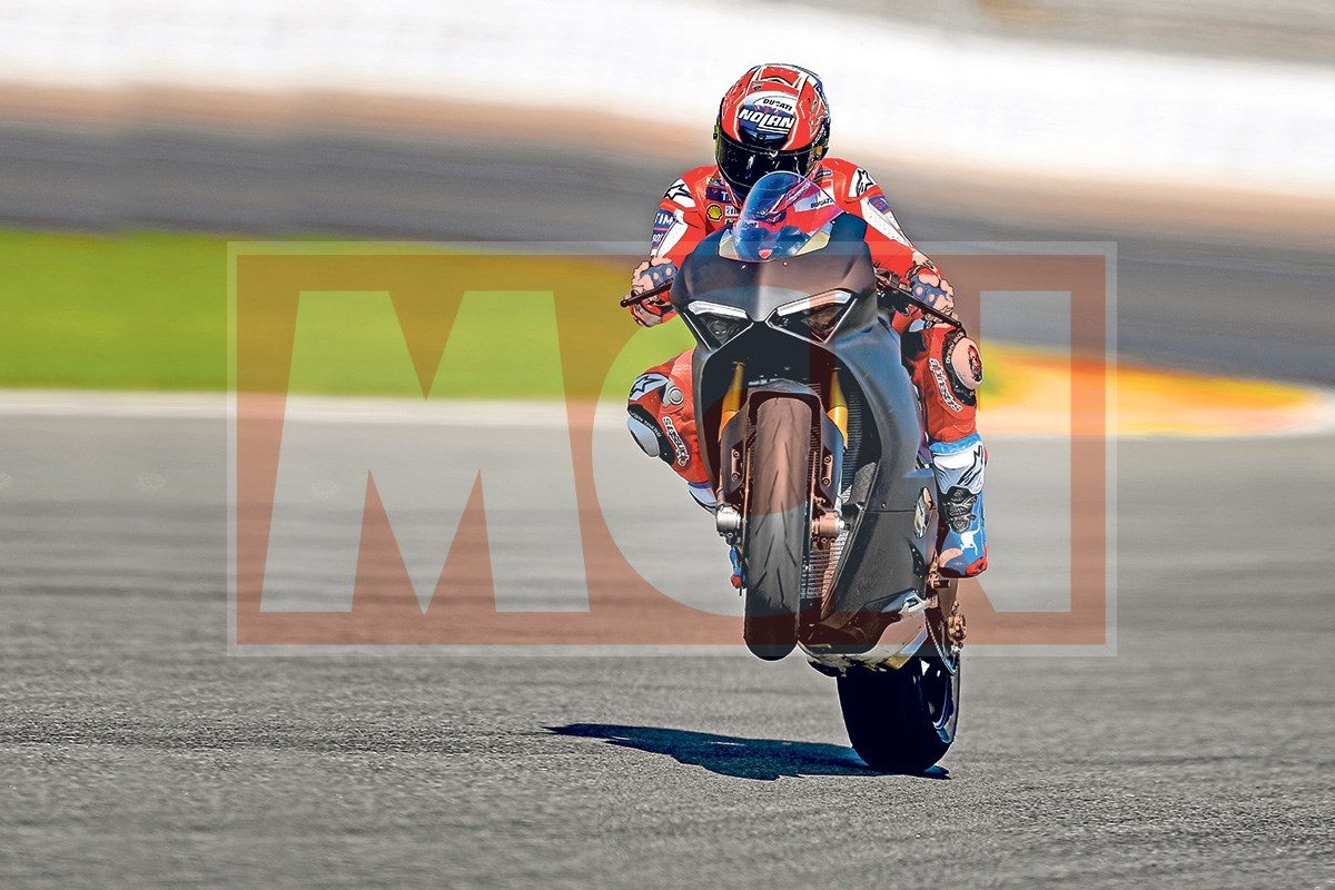 Casey Stoner Takes The Upcoming Ducati Panigale V4 Out On