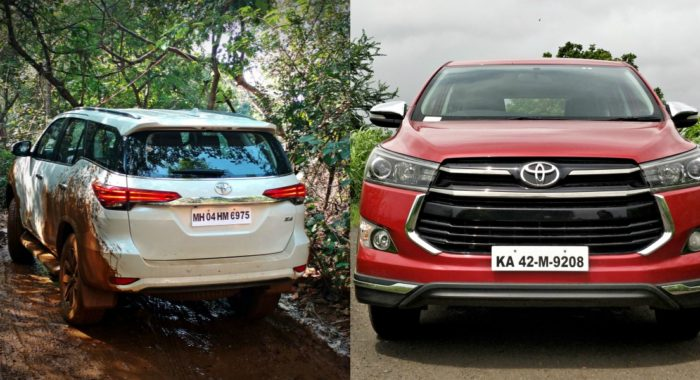 GST Cess hike makes prices of Toyota cars to go up by up to INR 1.7 Lakh