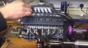 VIDEO: This Hand Made 125cc Miniature V10 Engine is the creation of a true Wizard