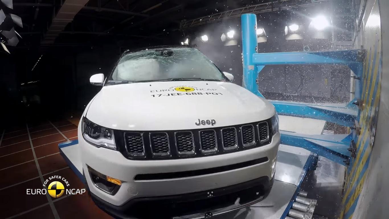 jeep compass scores five star euroncap rating complete report and crash test video motoroids. Black Bedroom Furniture Sets. Home Design Ideas