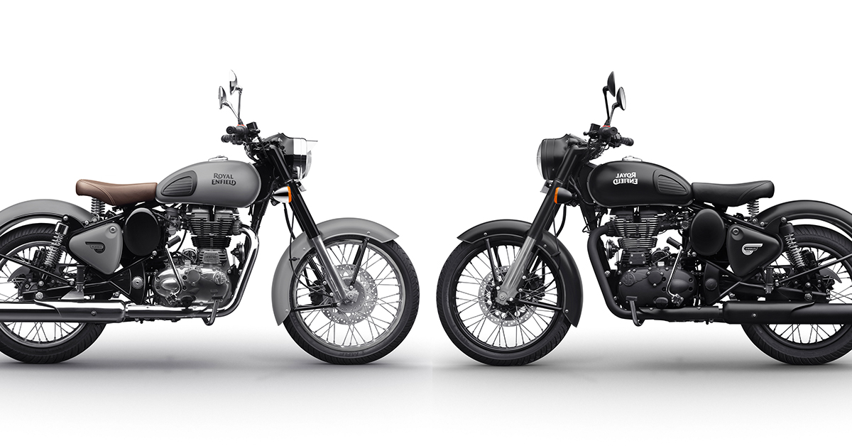 Royal Enfield Classic Now Available In Gunmetal Grey Stealth Black Motoroids