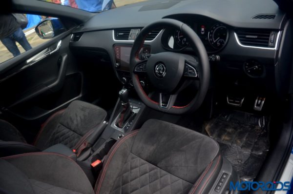 Skoda Octavia RS 230 India interior Interior