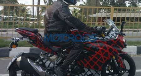 TVS Apache RR310S Continues Testing, Launch Likely By End Of 2017