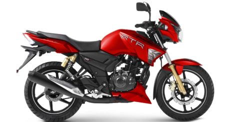 TVS Apache RTR 160 And RTR 180 Now Available In New Syrah Matte Red