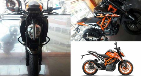 2017 KTM 390 Duke Painted In Black Spotted At A Dealership