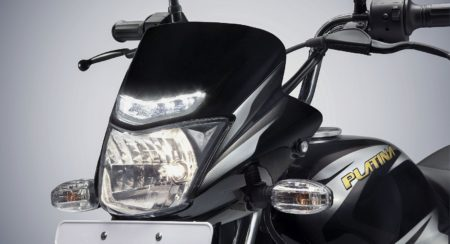 Bajaj Platina ComforTec with LED DRLs (2)