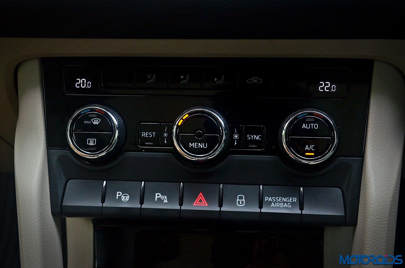 Skoda-Kodiaq-AC-controls