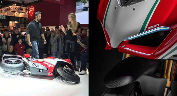 Ducati Panigale V4 Speciale Goes Down On Eicma 2017 Stage