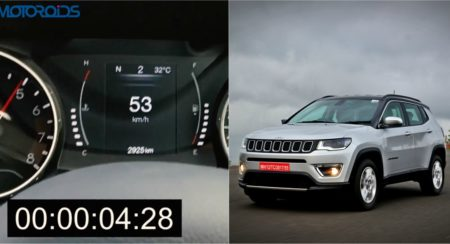 Jeep Compass 0-100 kmph Acceleration Video - Feature Image