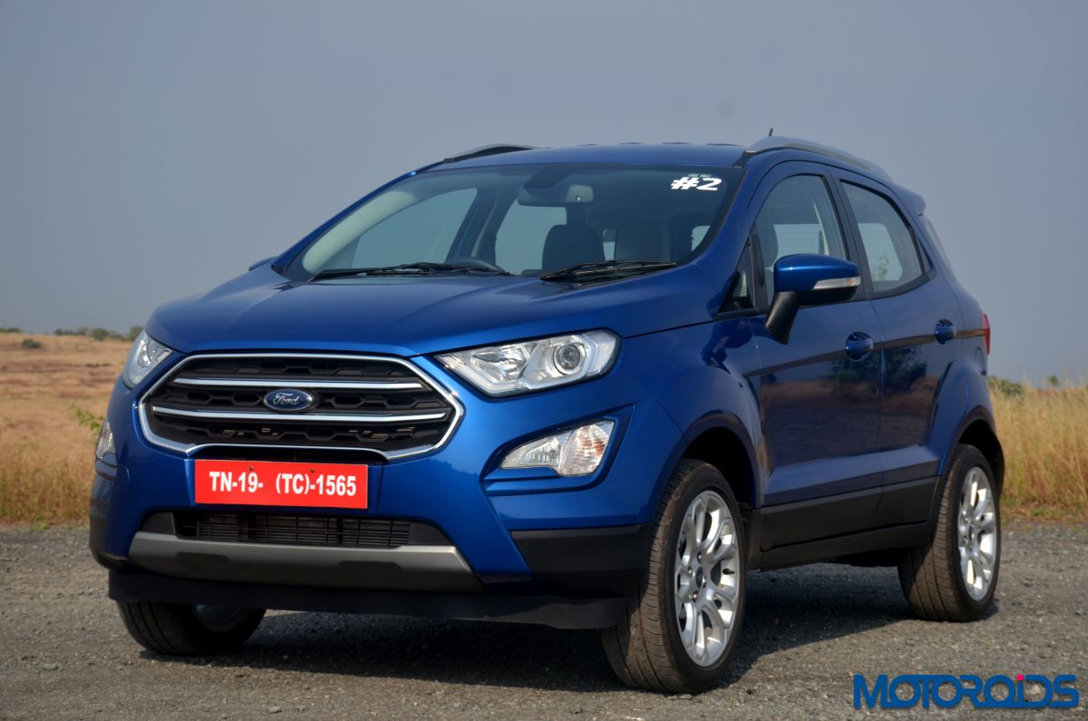 all 123 units of new ford ecosport facelift booked within. Black Bedroom Furniture Sets. Home Design Ideas