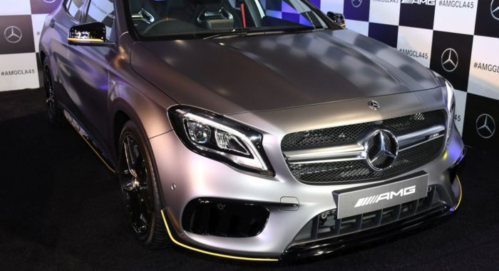 new mercedes amg gla 45 launched in india prices start at inr lakh motoroids. Black Bedroom Furniture Sets. Home Design Ideas