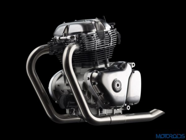 Royal Enfield 648cc Twin Engine Without Oil Cooler view LHS