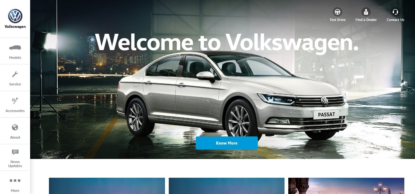 Volkswagen-India-Website