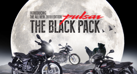 New 2018 Bajaj Pulsar Black Pack Edition Announced