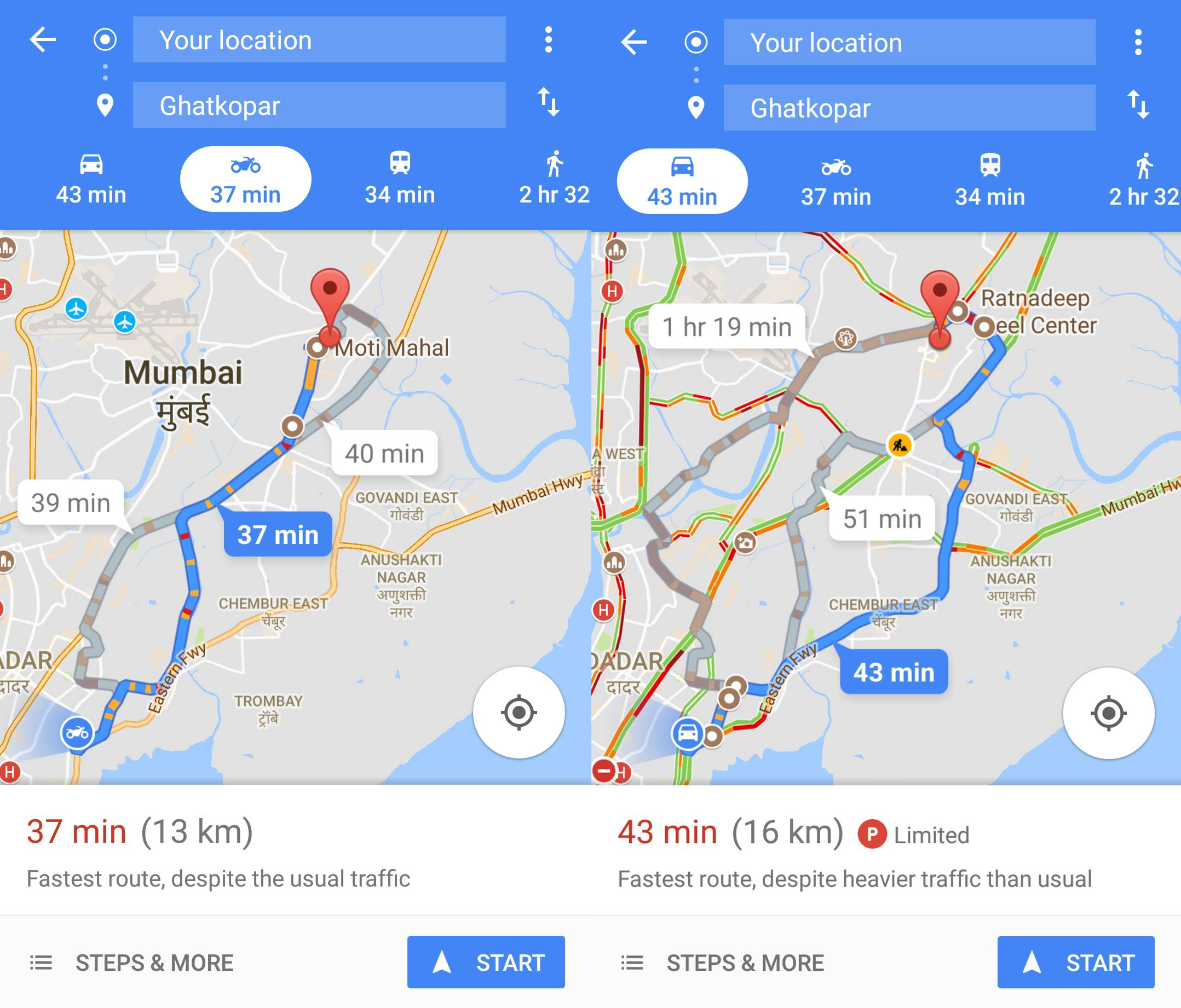 Google Maps introduces new Motorcycle mode in India