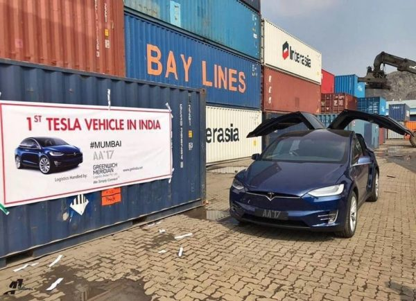 India's First Tesla Model X Lands In Mumbai (3)