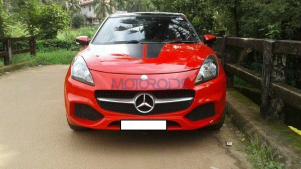 Maruti-Baleno-Which-Dressed-As-A-Mercedes-A-Class-Ends-Up-In-Police-Impound-4-600x338
