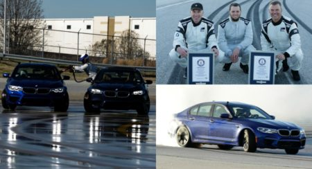 BMW M5 world record collage