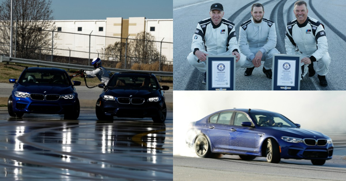 Video Bmw M5 Reclaims Guinness World Record With Worlds Longest