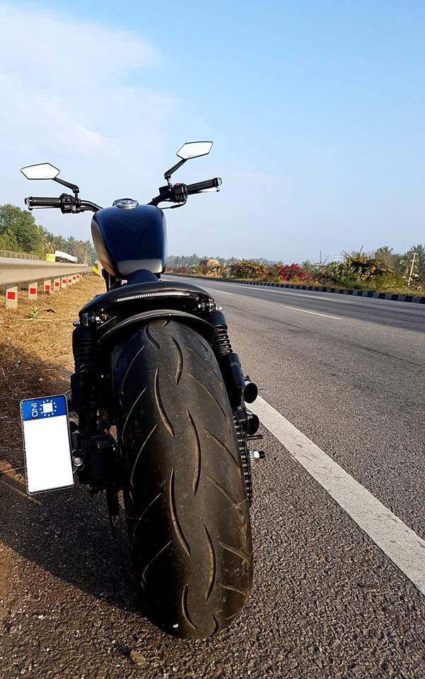 Modified Royal Enfield: If The Streetlights Go Out, Blame It On The Blackout | Motoroids
