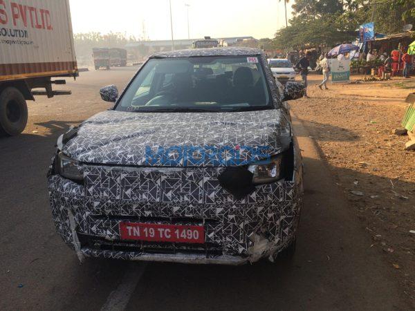 Mahindra S201 Compact SUV Spy Image (1)