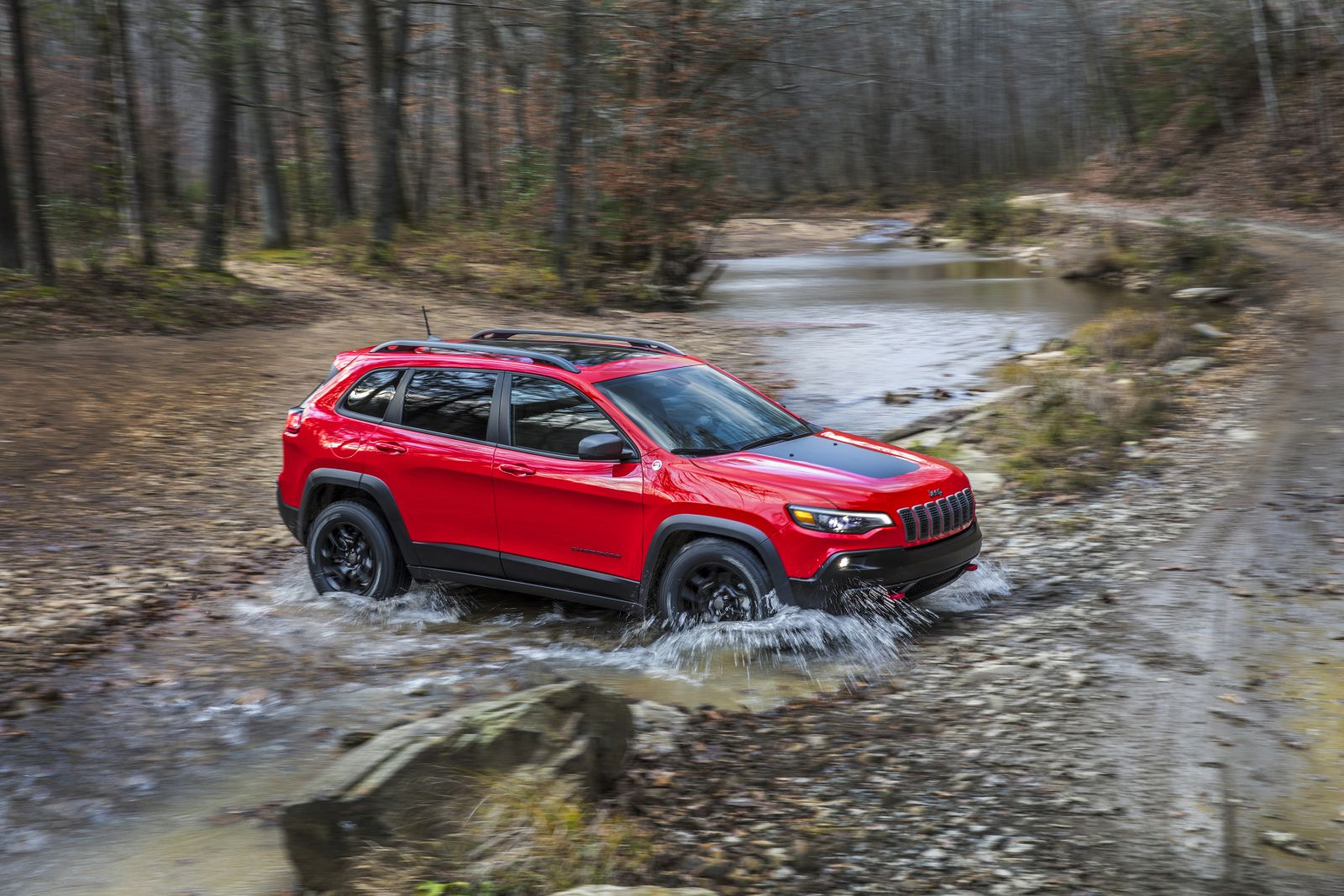 new 2019 jeep cherokee debuts at the 2018 detroit auto show motoroids. Black Bedroom Furniture Sets. Home Design Ideas