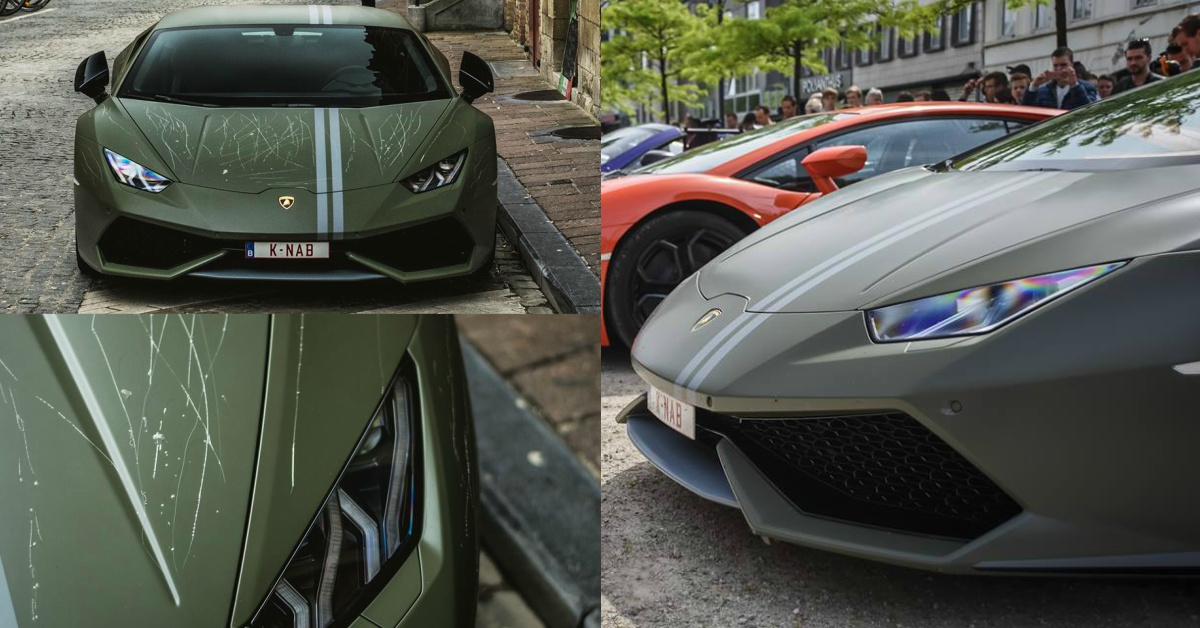 images of limited edition inr crore lamborghini huracan avio with key scratches are heart. Black Bedroom Furniture Sets. Home Design Ideas
