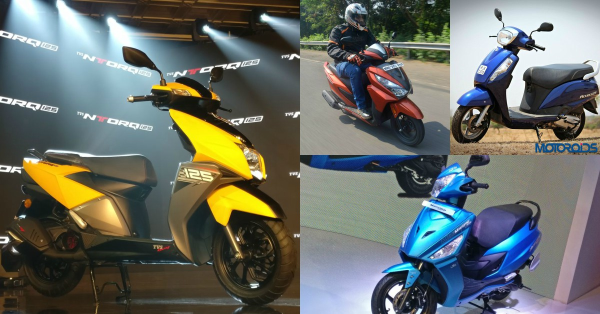 TVS NTORQ Vs Honda Grazia 125 Vs Suzuki Access 125 Vs Hero