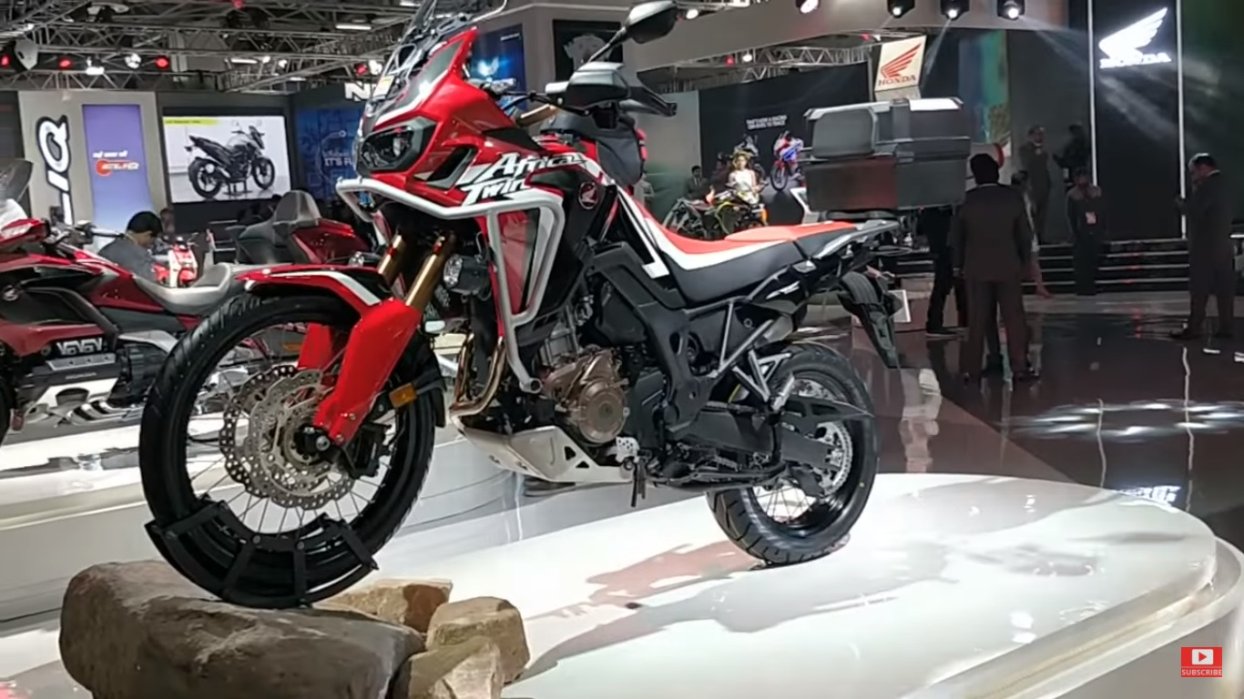 auto expo 2018 new 2018 honda africa twin gets updated. Black Bedroom Furniture Sets. Home Design Ideas
