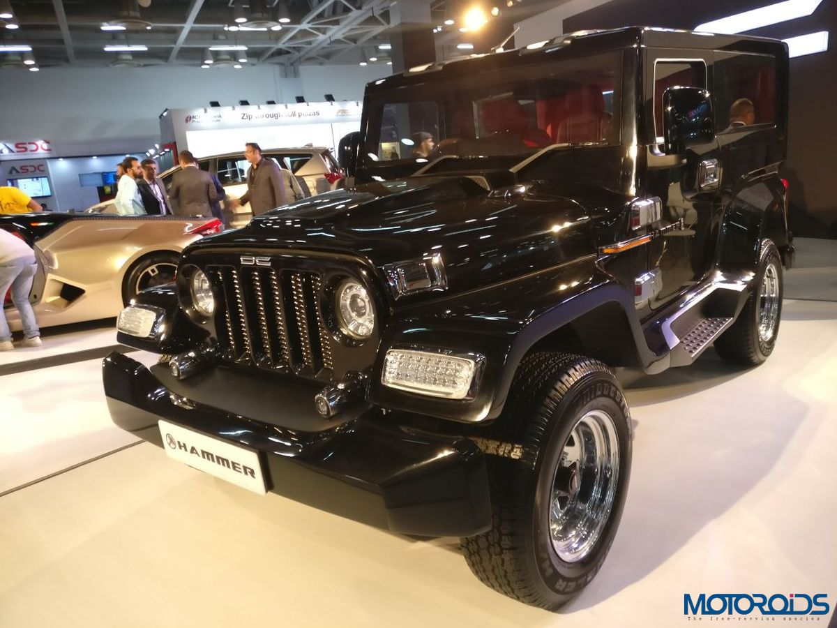 dc interiors dc modified mahindra thar full interior exterior Auto Expo 2018: DC Hammer Is Another Thar Gone Wild; Costs INR 5.95 Lakh