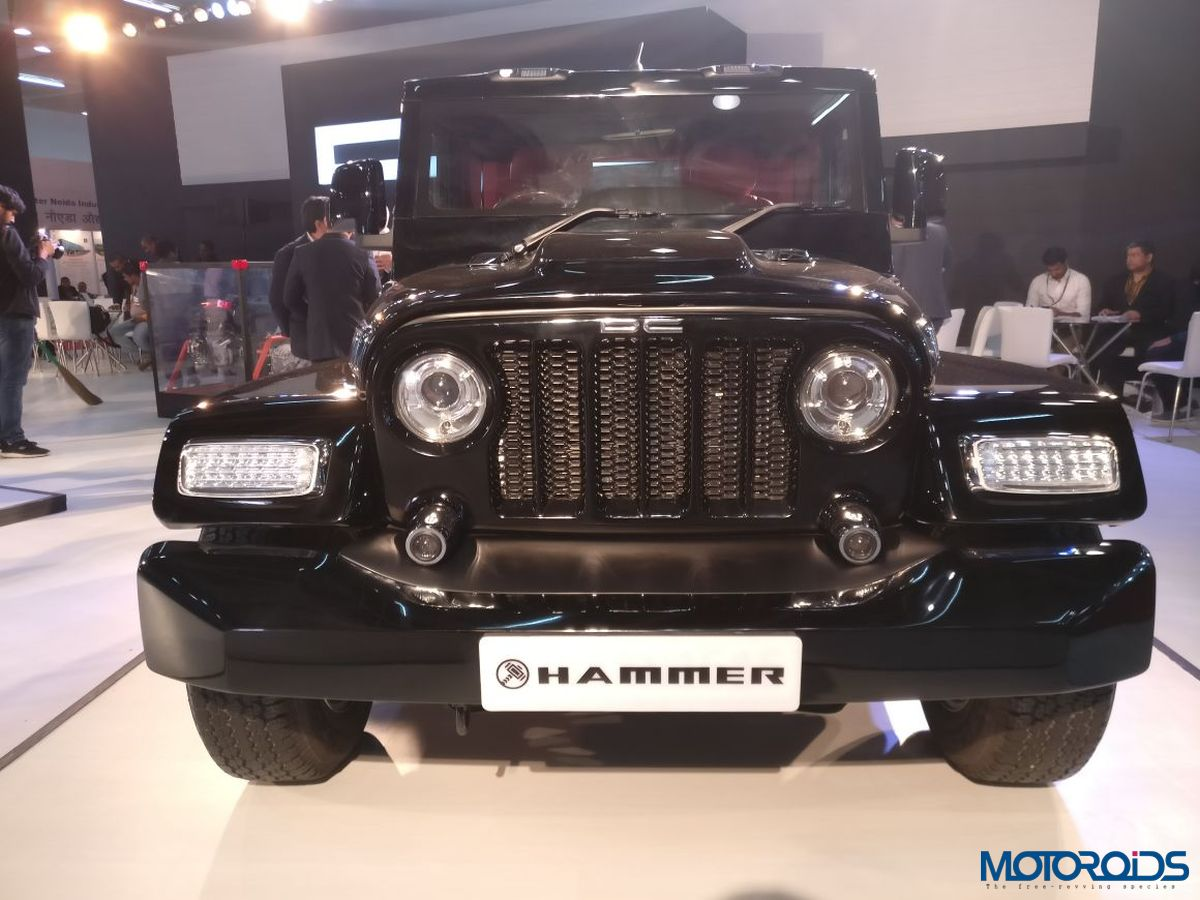 auto expo 2018 dc hammer is another thar gone wild costs inr lakh motoroids. Black Bedroom Furniture Sets. Home Design Ideas