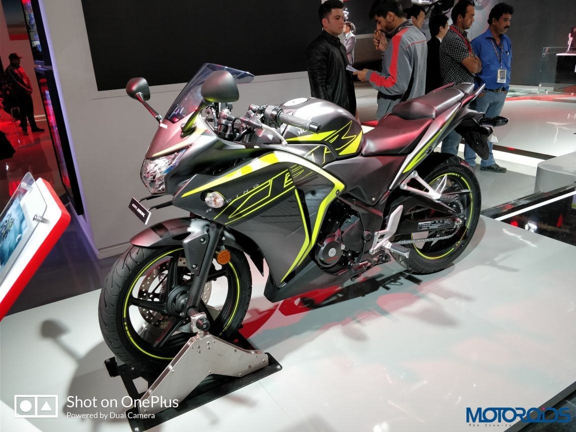 auto expo 2018 new honda cbr250r unveiled features led. Black Bedroom Furniture Sets. Home Design Ideas