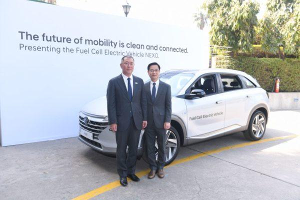 Hyundai NEXO And IONIQ Electric Vehicles Showcased At India Korea Business Summit 2018 (1)