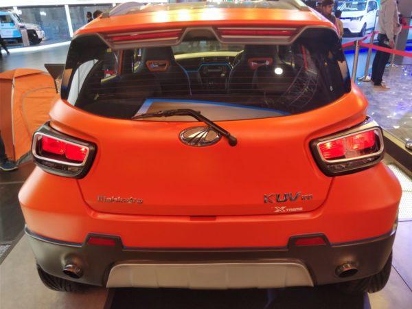 Mahindra-KUV100-Xtreme-rear-600x450