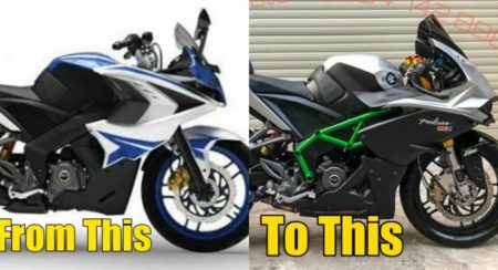 Modified Bajaj RS200 To Kawasaki Ninja H2R (7)