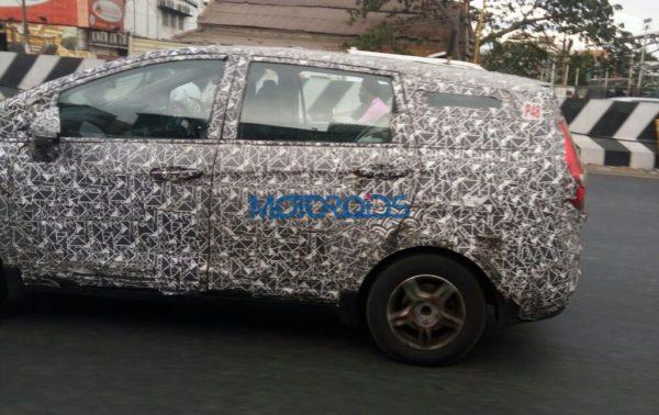 More Spyshots of upcoming MPV from Mahindra (3)