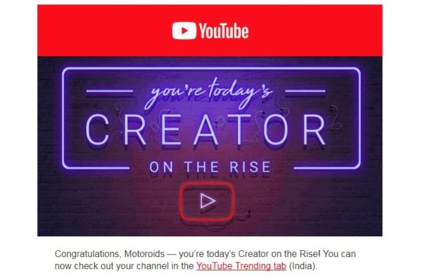 Motoroids youtube Creator on the Rise