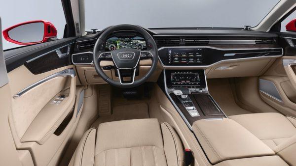 New 2018 Audi A6 interior dashboard (1)