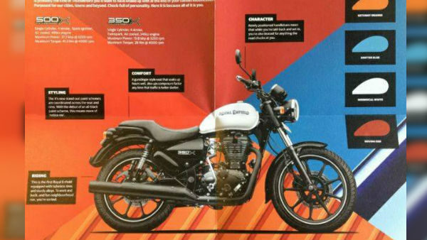 Royal Enfield Thunderbird 350X and 500X Brochure Leaked Ahead Of Launch