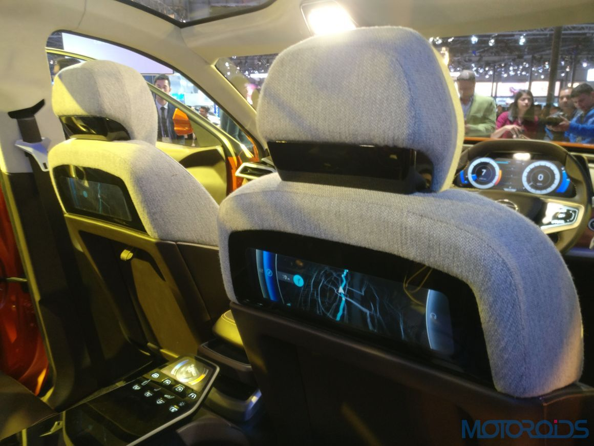 the tata h5x suvs cabin brings space age to the 2018 auto expo motoroids. Black Bedroom Furniture Sets. Home Design Ideas