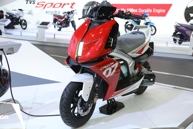 Auto expo 2018 tvs creon concept unveiled motoroids for Concept expo